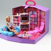 Кукольная мебель для барби Gloria 2014HB гостинная в чемодане 39*13*29,5см