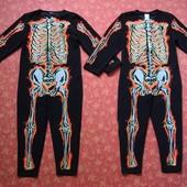 Продаю!!! 5-6 лет карнавальный костюм Скелет хеллоуин (Halloween)  F&F, б/у. Передняя сторона и рука