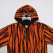 Флисовый взрослый человечек-пижама Тигр размер M-L, Star Clothing, б/у.