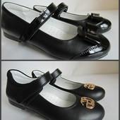 Кожаные туфли девочкам, качество, Украина! 31-35 р