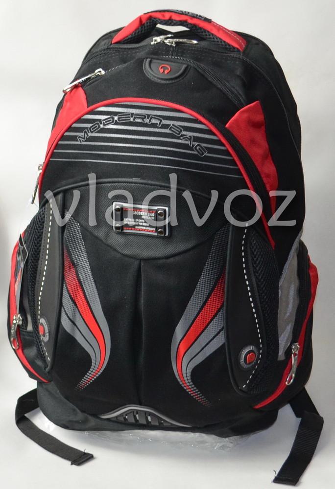Школьный рюкзак для мальчиков Modern DFW черный с красным 3455 фото №1