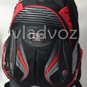 Школьный рюкзак для мальчиков Modern DFW черный с красным 3455