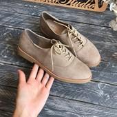 Туфли-Оксфорды на широкую ножку, р-р 38