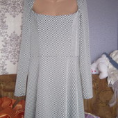 Плаття чорне в білі горохи з відкритою спиною(великий розмір)18\46
