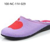 100-NC-11V  Три расцветки! женские домашние тапочки Inblu Инблу фетр, размеры 36-41