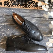 Кожаные туфли-броги M&S p-p 42