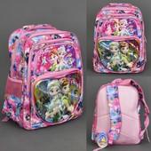 Рюкзак школьный, Холодное Сердце, 5 отделений, 2 кармана, спинка ортопедическая
