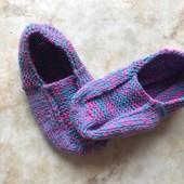 Яркие новые вязанные тапочки носочки для дома на размер 36-38