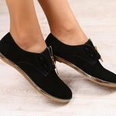 Туфли замшевые, р. 36-40 код nvk-2685