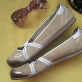 Брендовые стильные туфли балетки мокасины  Esprit,р.40,натуральная замша