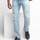 мужские джинсы оригинал GAP сша Lightweight slim fit jeans stretch р.36 наш 50-52