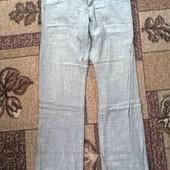 брюки льняные