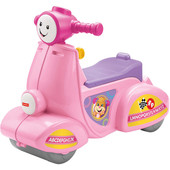 Fisher-Price Смейся и учись Умный скутер машинка каталка laugh and learn smart stages scooter, pink