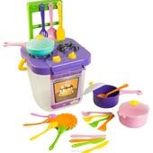 Набор посуды Ромашка с плитой, 25 предметов, Тигрес. Плита с посудой.