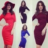 ХИТ! Платье-миди от производителя 13 цветов. 40,42,44,46 рр - 220 грн, 48,50,52 рр - 250 грн