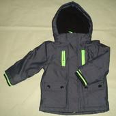 Фирменная Rebel джинсовая деми куртка мальчику 1,0-1,5 года
