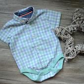 Боди-рубашка в клетку M&S (3-6 мес)