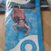 """Круг надувной для плавания """"Прозрачный"""" 51 см (Bestway) 3-6 лет, синий"""