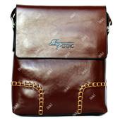 Мужская коричневая сумка через плечо  (54122)