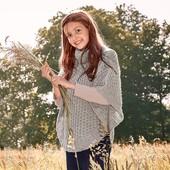 Накидка-пончо для Вашей доченьки Tchibo, Германия - акрил, шерсть