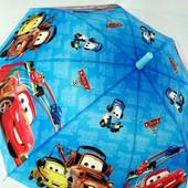 Крутой яркий зонт зонтик трость для мальчика Марио Италия поливинил с карбоновой спицей. 4-8 лет
