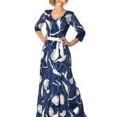 Длинное платье с запахом типа «солнце-клеш» в ассортименте