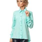 Женская стильная рубашка из однотонного софта в ассортименте