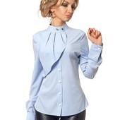 Стильная женская блузка с жабо в ассортименте