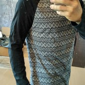 Мощная кофта, необычный пошив, крутой принт, L