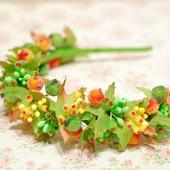 Обруч ободок венок осенний с ягодами
