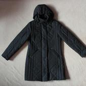 Фирменная удлиненная стеганная куртка