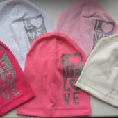 Трикотажная шапочка для девочки Love 50-54 см