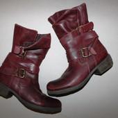 Кожаные ботинки 37-38 размер