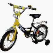 Двухколесный велосипед Mars C1601 желто-черный (16 дюймов). Тайвань