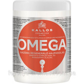 Восстанавливающая маска для волос Kallos Omega с комплексом омега-6 и маслом макадамии 1000мл (Венгр