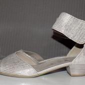 Кожаные фирменные женские босоножки Gabor 37.5-38 р - Новые