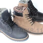 Зимние мужские ботинки, кожа, цвета