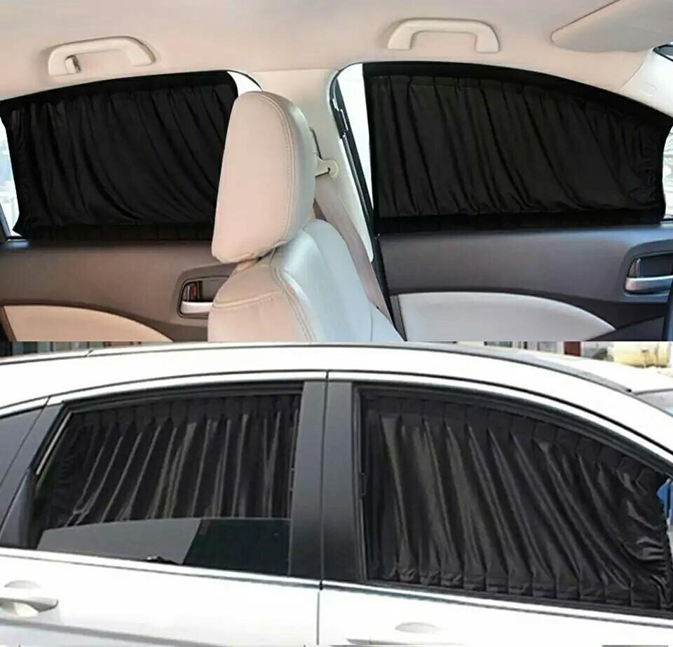 Автомобильные солнцезащитные шторы на боковые стекла. фото №1