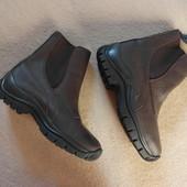 Фирменные кожанные термо ботинки из США