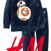 Піжами велюрові Star Wars для хлопчиків 1-6 років від фірми H&M Швеція