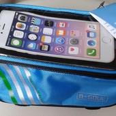 Велосумка B-SOUL на раму велосипеда для смартфона, ключей и др.
