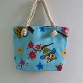 Детская холщовая сумочка Совы