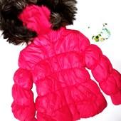Теплая демисезонная куртка Baby Gap 2г (рукав 33, дл 39) на флисе и холофайбере