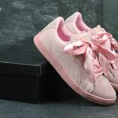 Кроссовки женские Puma Suede Bow pink