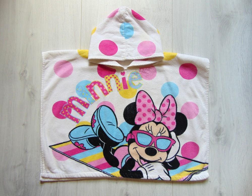 Яркое махровое полотенце для девочки. Disney. Размер one size. Состояние: идеальное фото №1
