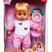 Кукла Lovely Baby 31 см от Defa  погремушка поилка