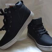 Демисезонные ботинки на мальчика 22-37 размер(24,30,32,34,35 в наличии)
