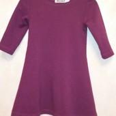Платье девочке трикотажное, теплое на 4-5 лет в идеальном состоянии