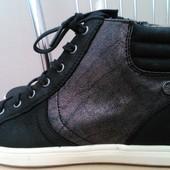 No stress, 40 p. Кожаные комфортные демисезонные ботинки кеды