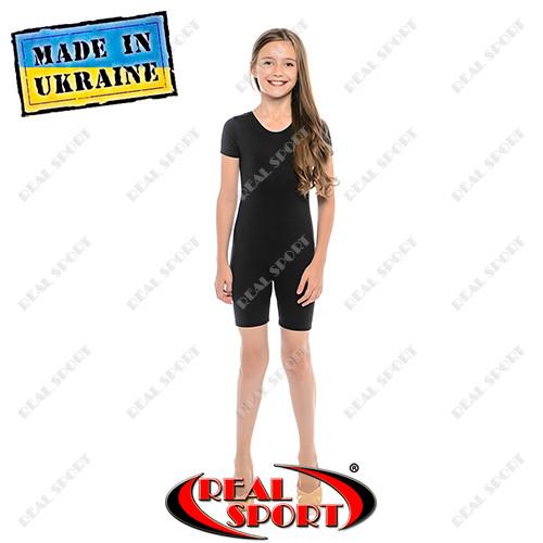 Комбинезон для танцев и гимнастики с коротким рукавом хлопок фото №1